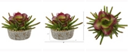 Nearly Natural 9in. Mixed Succulent Artificial Plant in Weathered Oak Planter