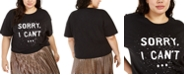 Love Tribe Hybrid Trendy Plus Size Sorry I Can't T-Shirt