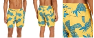 "Club Room Men's Pineapple-Print 7"" Swim Trunks, Created for Macy's"