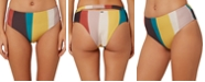 O'Neill Juniors' Sapa Striped High-Waist Bikini Bottoms