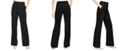 Alfani Petite Pintuck Tummy-Control Trousers, Created for Macy's