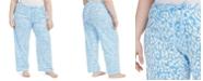 Hue Plus Size Cotton Temp Tech Animal-Print Pajama Pants