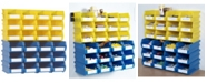 Triton Products Locbin 26 Piece Wall Storage Unit, Wall Mount Rails with Hardware, 2 Pack