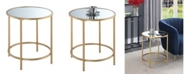Convenience Concepts Gold Coast Deluxe Mirrored Round End Table