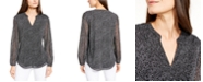 Alfani Printed Mesh-Sleeve Top, Created for Macy's