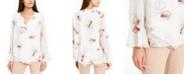 Alfani Petite Printed Bell-Sleeve Top, Created for Macy's