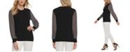 DKNY Striped-Sleeve Sweater