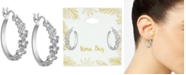Kona Bay Flower Hoop Earrings in Fine Silver-Plate