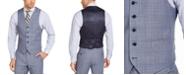 Lauren Ralph Lauren Men's Classic-Fit UltraFlex Stretch Light Blue Plaid Suit Vest