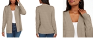 Karen Scott Petite Pointelle Cardigan, Created for Macy's