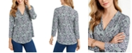 Charter Club Paisley-Print V-Neck Top, Created for Macy's