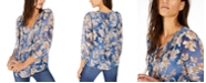 Tommy Hilfiger Pintucked Floral-Print Blouson Top