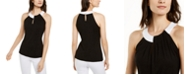 INC International Concepts INC Twisted Colorblocked Top, Created for Macy's
