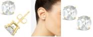 Macy's White Topaz (3 ct. t.w.) Stud Earrings in 14K Yellow Gold