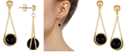 Macy's Onyx Wire Wrap Drop Earrings in 10k Gold