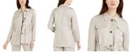 Calvin Klein Drawstring-Waist Utility Jacket