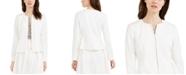 Calvin Klein Zip-Front Cropped Scuba Jacket