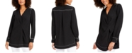 Alfani Contrast-Stitch Tunic, Created for Macy's