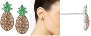 Giani Bernini Crystal Pineapple Stud Earrings in Sterling Silver