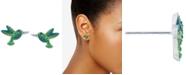 Giani Bernini Crystal Hummingbird Stud Earrings in Sterling Silver