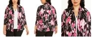 Kasper Plus Size Floral-Print Cardigan