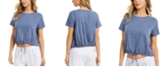 Tommy Hilfiger Cropped Tie-Front Lounge T-Shirt