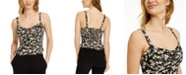 Bar III Floral-Print Peplum Camisole Top, Created for Macy's