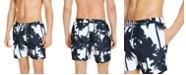 "INC International Concepts INC Men's Kai Abstract Palm Tree 5"" Swim Trunks, Created for Macy's"