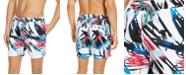 "INC International Concepts INC Men's Luca Palm 5"" Swim Trunks, Created for Macy's"