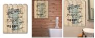 Trendy Decor 4U Trendy Decor 4u if You Sprinkle by Debbie Dewitt, Printed Wall Art on a Wood Picket Collection