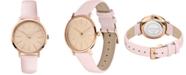 Lacoste Women's Moon Pink Leather Strap Watch 35mm