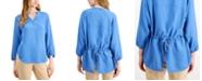 Alfani Bishop-Sleeve Tie-Back Top, Created for Macy's
