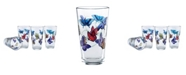 Culver Butterflies Pint Glass 16-Ounce Set of 4