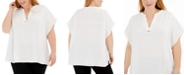 Calvin Klein Plus Size V-Neck Top