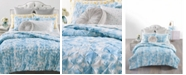 Martha Stewart Collection Pleated Tie Dye 3-Pc. Comforter Sets