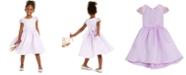 Rare Editions Little Girls Embellished-Sleeve Satin Dress