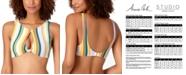 Anne Cole STUDIO Striped Knot Keyhole High-Neck Bikini Top