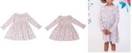 Kinderkind Little Girls Long Sleeve Floral Ruffle Dress