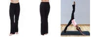 American Fitness Couture Women's High Waist Comfortable Bootleg Yoga Pants