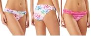Tommy Bahama Reversible Shirred-Side Hipster Bikini Bottoms