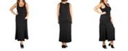 24seven Comfort Apparel Women's Plus Size Sleeveless Maxi Dress