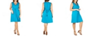 24seven Comfort Apparel Women's Plus Size Empire Waist Sleeveless Party Dress