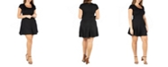 24seven Comfort Apparel Women's Plus Size Short Sleeve T-Shirt Dress