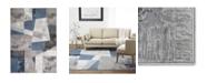 "Global Rug Designs Yorba Yor01 Gray and Blue 7'10"" x 10'2"" Area Rug"