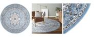 "Global Rug Designs Haven Lane Hal06 Mist 7'10"" x 7'10"" Round Rug"