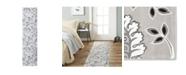 "Global Rug Designs Haven Lane Hal04 Gray 1'8"" x 7'2"" Runner Rug"