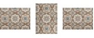 """Global Rug Designs Haven Hav11 Taupe and Blue 3'3"""" x 5'2"""" Area Rug"""