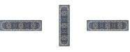 "Global Rug Designs Haven Hav09 Navy and Ivory 1'9"" x 7'2"" Runner Rug"