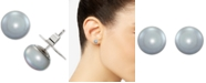 Macy's Gray Cultured Freshwater Button Pearl Stud Earrings (9mm) in Sterling Silver (Also in Peach)