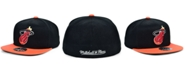 Mitchell & Ness Miami Heat Wool 2 Tone Fitted Cap